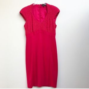 Ted Baker Pink Lace Cocktail Dress Size Medium